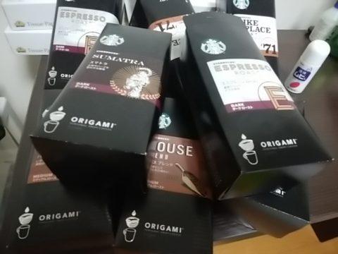 大量のドリップコーヒー