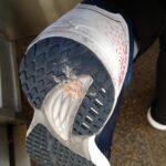 靴にガムがついた