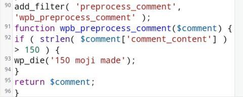 コメント文字数制限